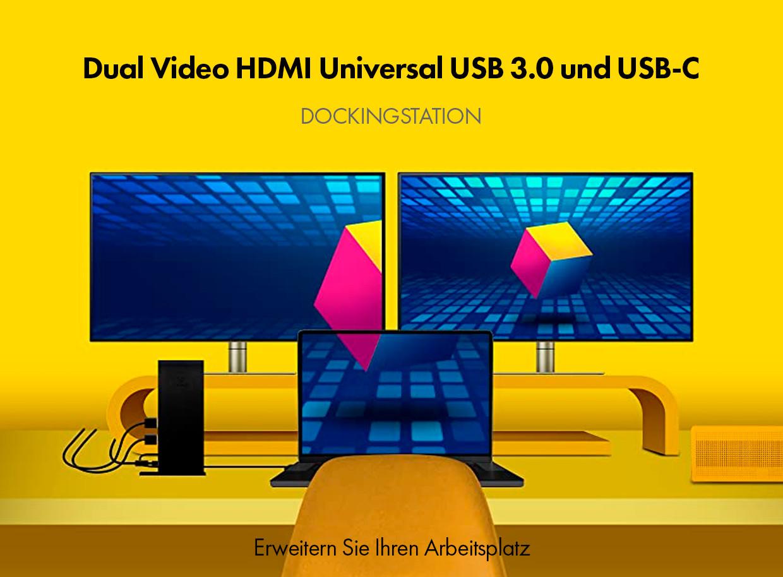 Neue Einsteiger DisplayLink™ DockingStation mit Dual HDMI IB-DK2251AC von ICY BOX